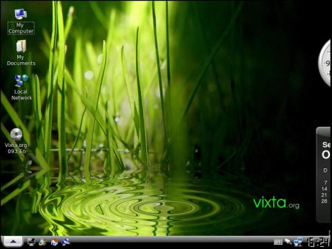 Screen 0f Vixta 0.93 boot through Virtual Box